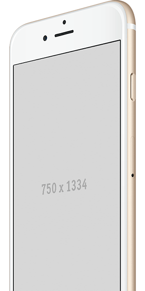 Image of a gold iPhone with blank screen