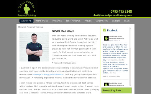 David Marshall Personal Trainer Thumb